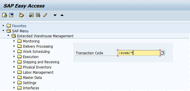 Important SAP EWM Transaction Codes