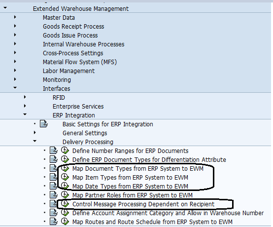 SAP EWM Delivery Integration with ERP with configuration example